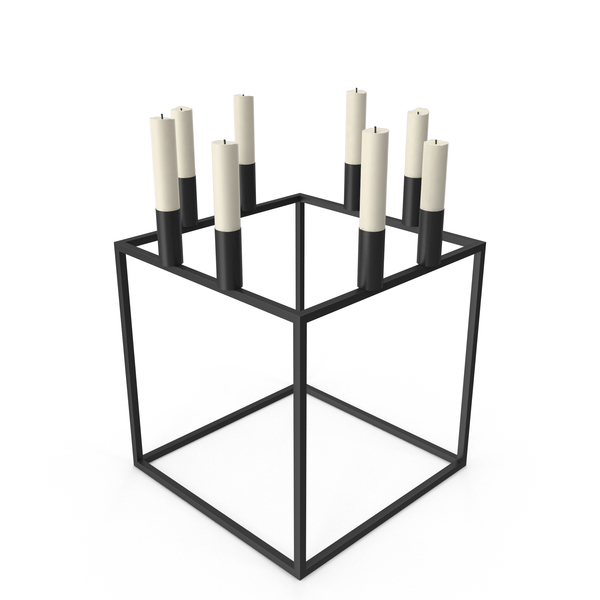 Candlestick: Cubical Сandlestick Holder PNG & PSD Images