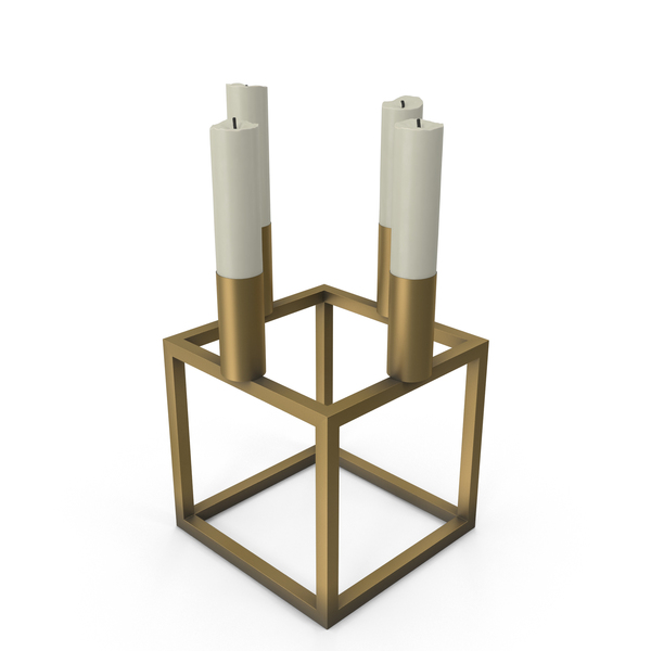 Cubical Candlestick Mini PNG & PSD Images