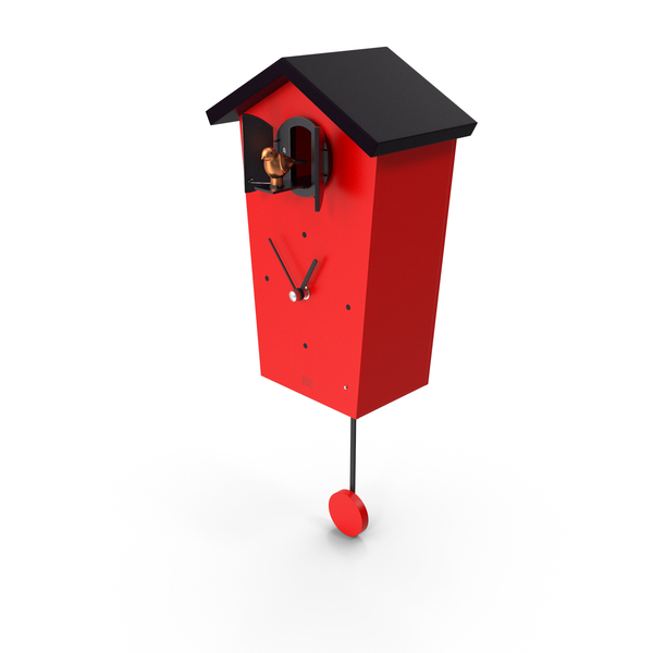 Cuckoo Clock Red PNG & PSD Images