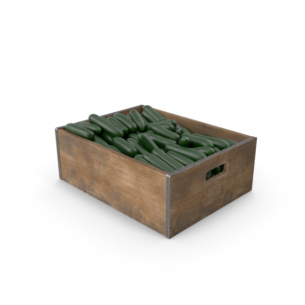 Cucumber Fruit Crate PNG & PSD Images