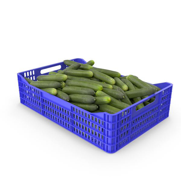 Cucumbers in Plastic Crate PNG & PSD Images
