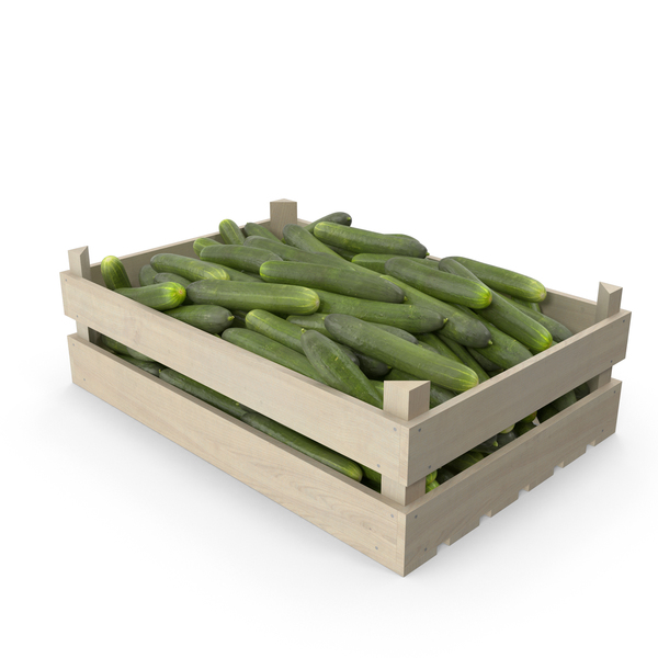 Cucumber: Cucumbers in Wooden Crate PNG & PSD Images