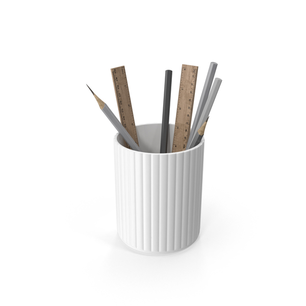 Cup of Art Supplies PNG & PSD Images
