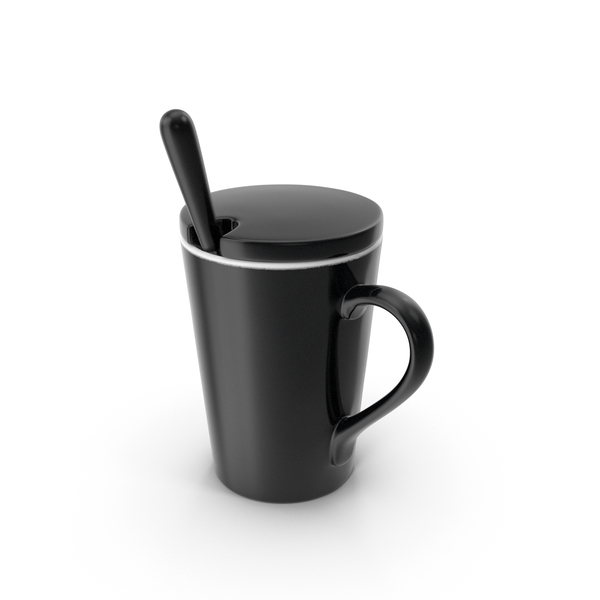Zarf: Cup with Lid and Spoon PNG & PSD Images