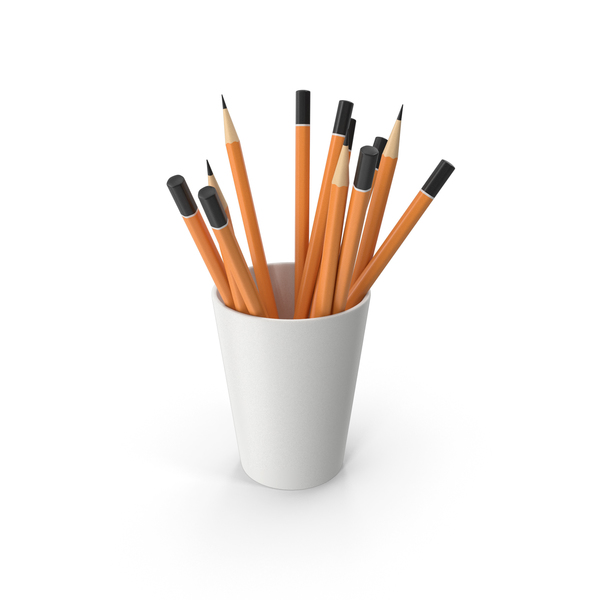 Pencil: Cup With Pencils PNG & PSD Images