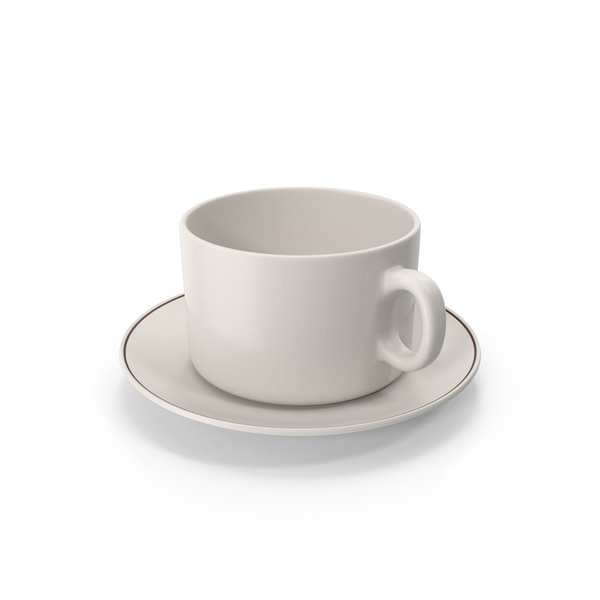 Cup With Plate Empty PNG & PSD Images