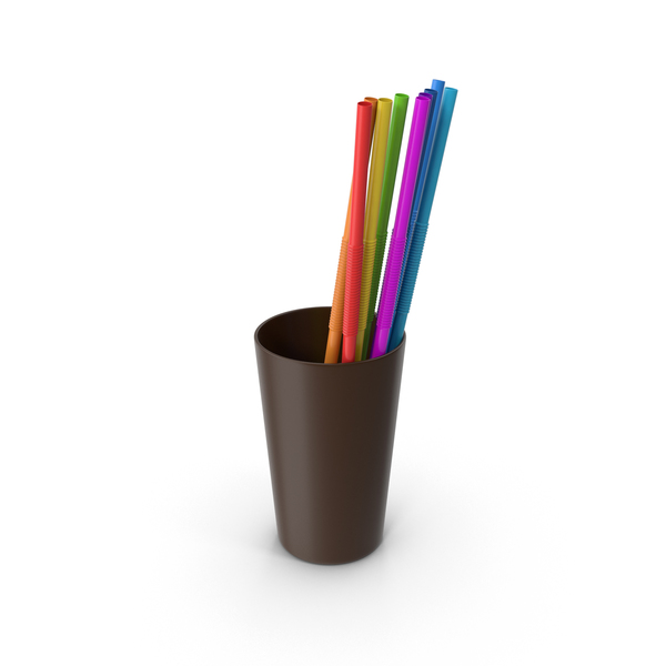 Plastic: Cup with Straws PNG & PSD Images