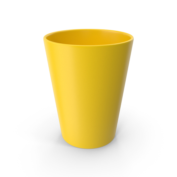 Plastic: Cup Yellow PNG & PSD Images