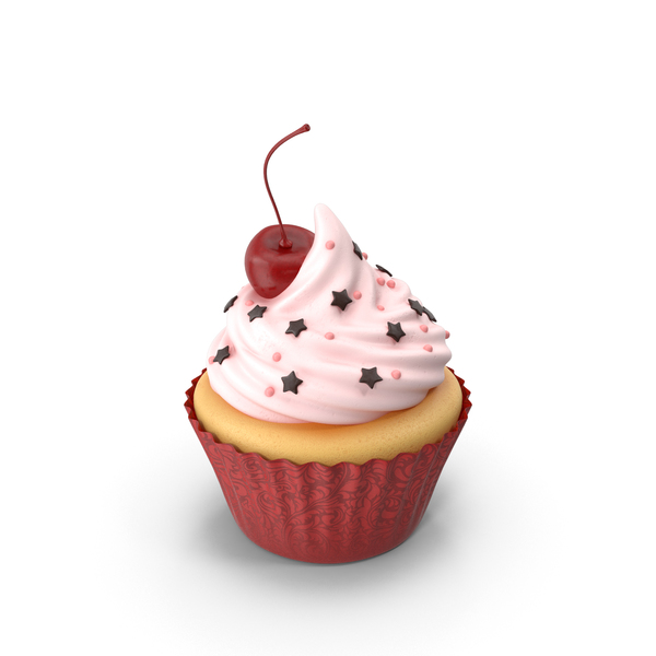 Cupcake with Cherry PNG & PSD Images