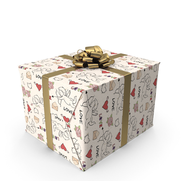 Cupid Love Gift Box PNG & PSD Images