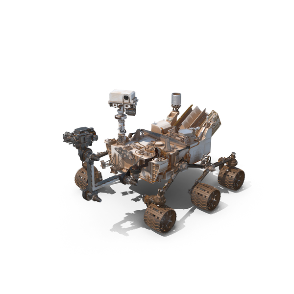 Curiosity Mars Rover Dusty PNG & PSD Images