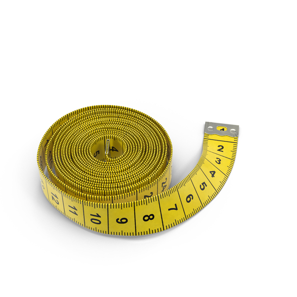 Curled Tape Measure Object