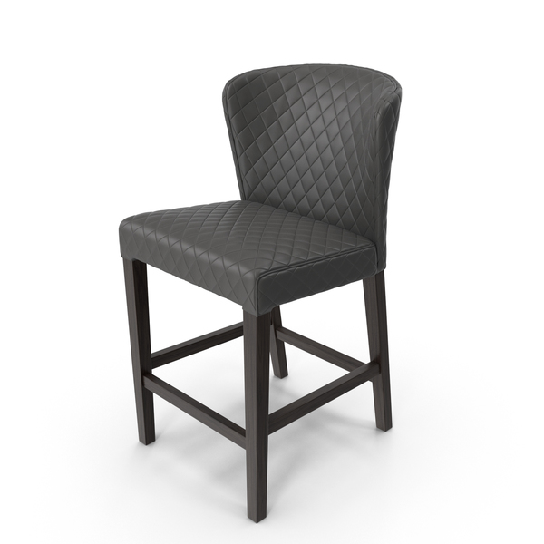 Curran Quilted Counter Stool PNG & PSD Images