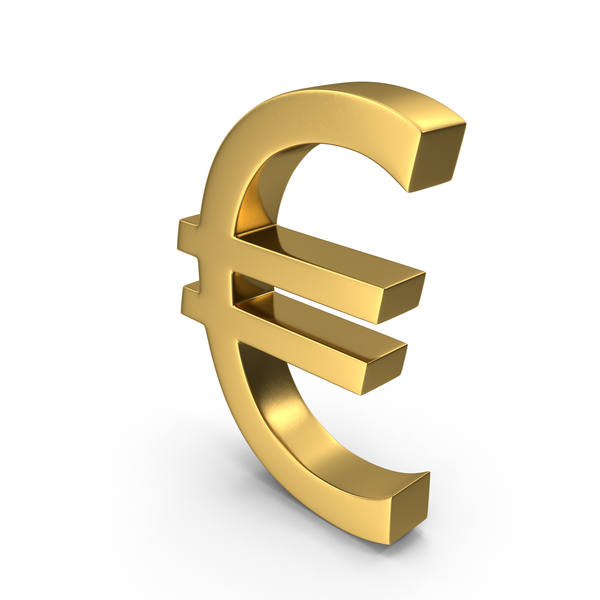 Sign: Currency Euro Gold PNG & PSD Images