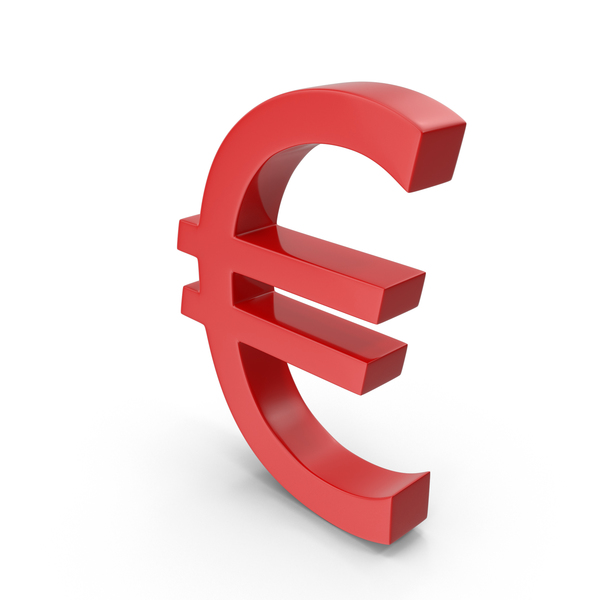 Sign: Currency Euro Red PNG & PSD Images