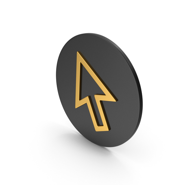 Cursor Arrow Gold Icon PNG & PSD Images