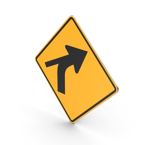 Curve Out Intersection Sign PNG & PSD Images
