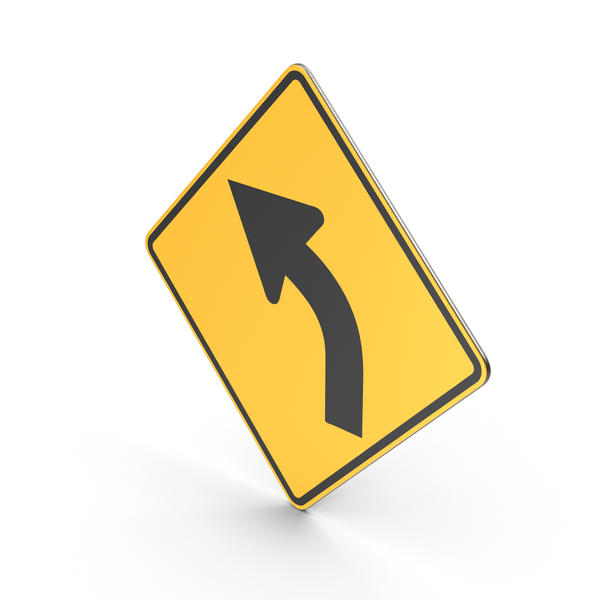 Traffic Signs: Curve Sign PNG & PSD Images