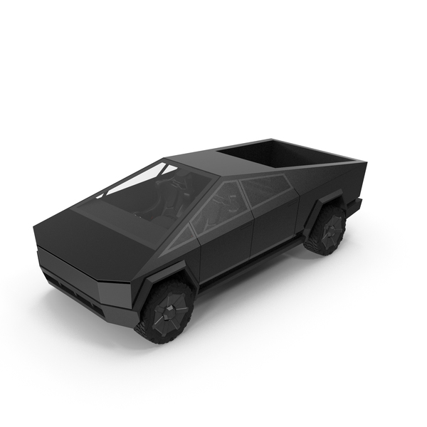 Car: Cybertruck Black PNG & PSD Images