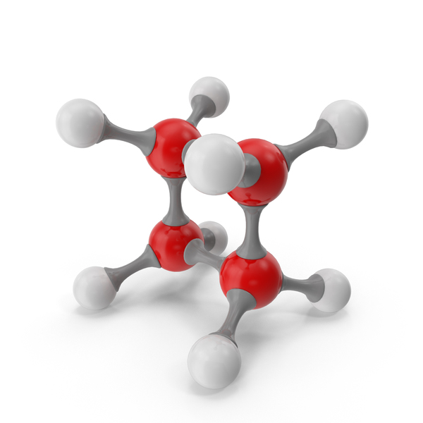 Cyclobutane Molecular Model PNG & PSD Images