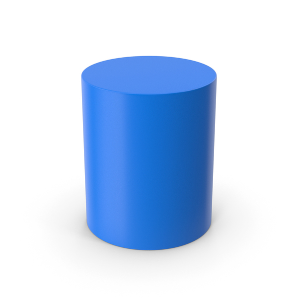 Geometric Shape: Cylinder Blue PNG & PSD Images
