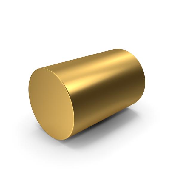 Cylinder Gold PNG & PSD Images