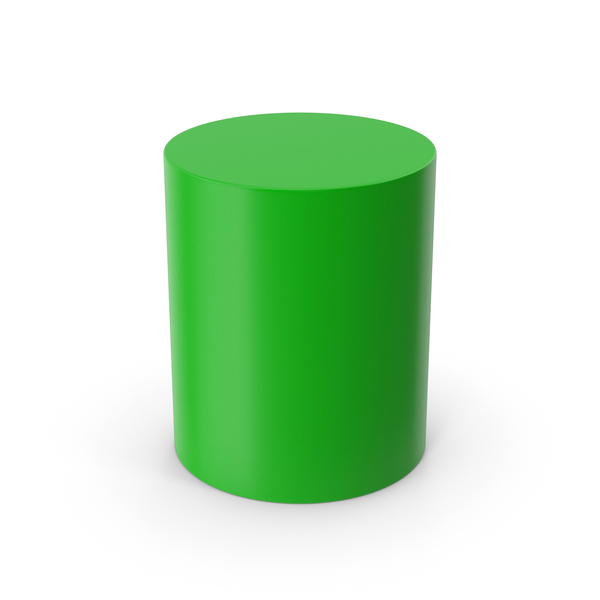 Chair: Cylinder Green PNG & PSD Images