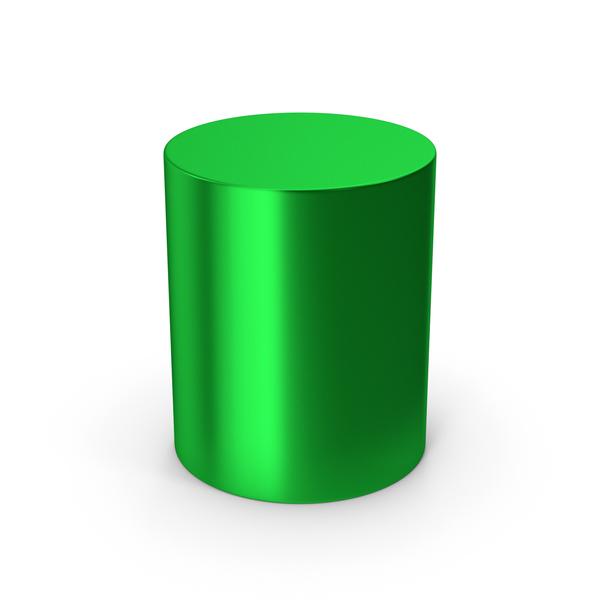 Cylinder Green Metallic PNG & PSD Images