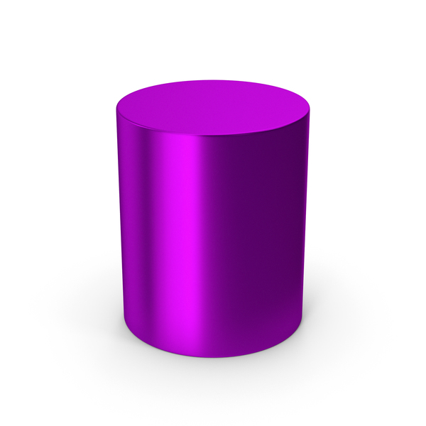 Cylinder Purple Metallic PNG & PSD Images