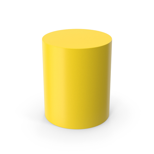 Chair: Cylinder Yellow PNG & PSD Images
