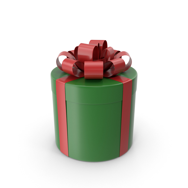 Cylindrical Gift Box PNG & PSD Images