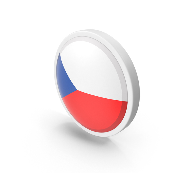 Czech Republic Flag Button PNG & PSD Images