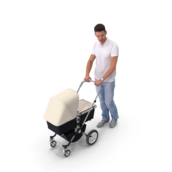 Dad With Stroller PNG & PSD Images