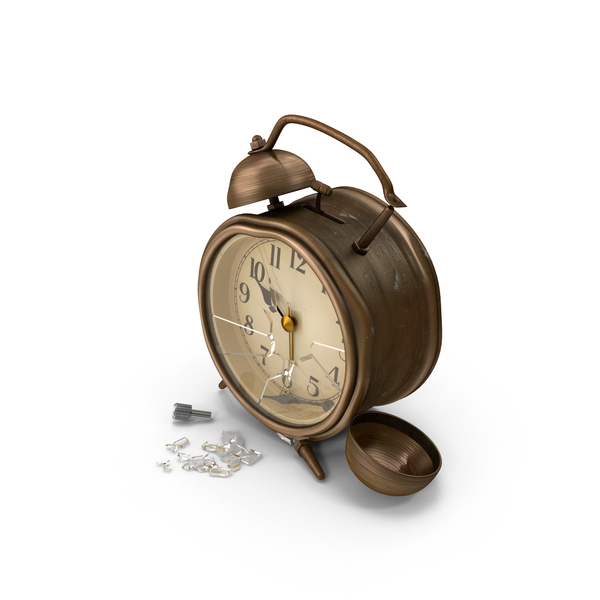 Damaged Alarm Clock PNG & PSD Images