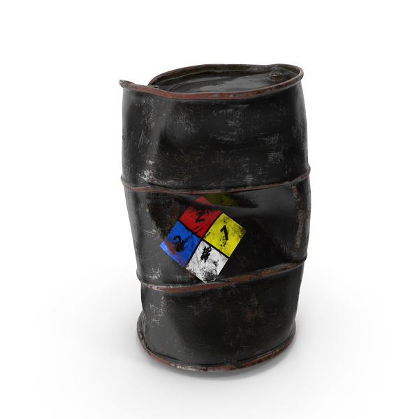 Damaged Chemical Barrel NFPA 704 PNG & PSD Images