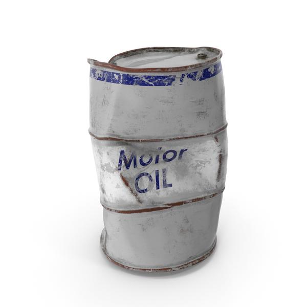 Steel: Damaged Motor Oil Barrel PNG & PSD Images