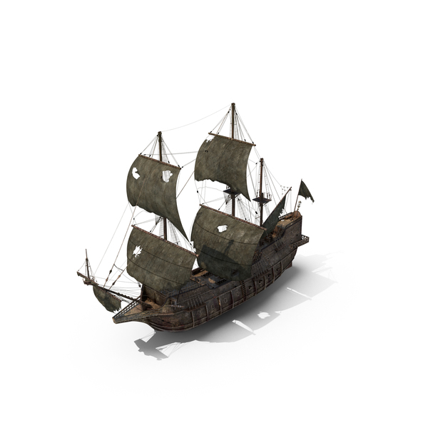 Damaged Pirate Ship Object
