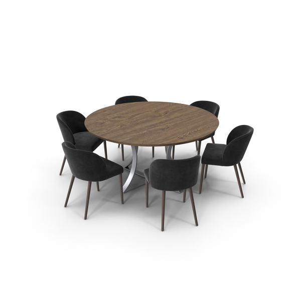 Damen Dining Table And Camille Chairs PNG & PSD Images