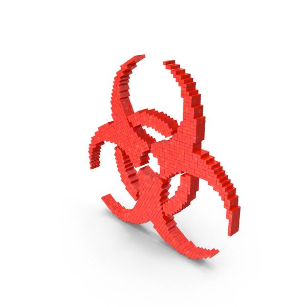 Danger Sign Biohazard Voxel PNG & PSD Images