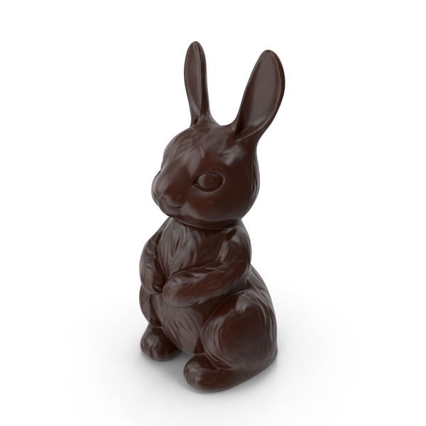 Dark Chocolate Bunny PNG & PSD Images