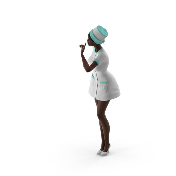 Woman: Dark Skinned Black Nurse PNG & PSD Images