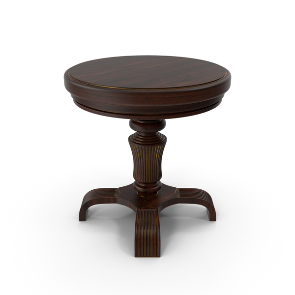 Dark Wood Accent Table PNG & PSD Images