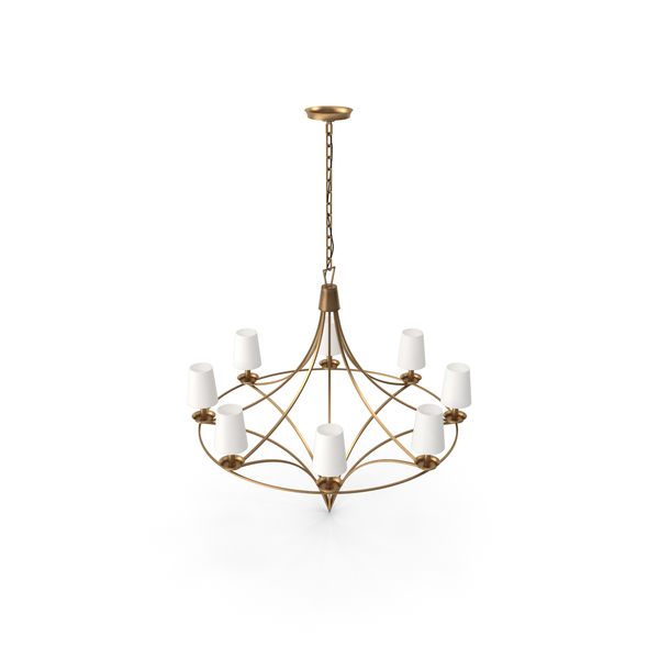 Darlana Medium Open Frame Chandelier PNG & PSD Images