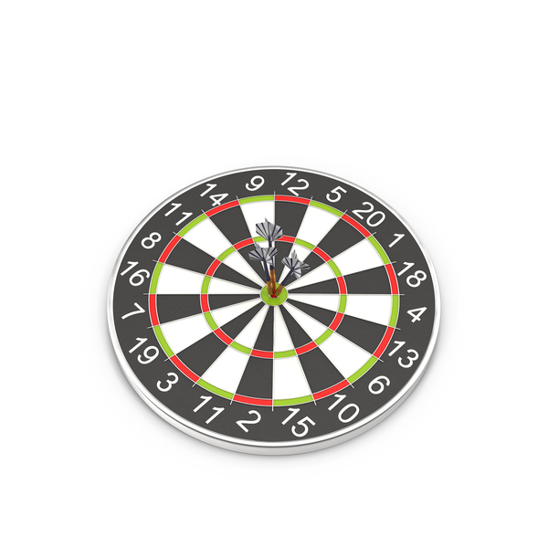 Dartboard with Darts PNG & PSD Images