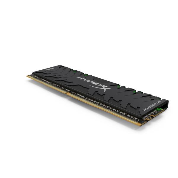 DDR4 Green Kingston HyperX Predator PNG & PSD Images