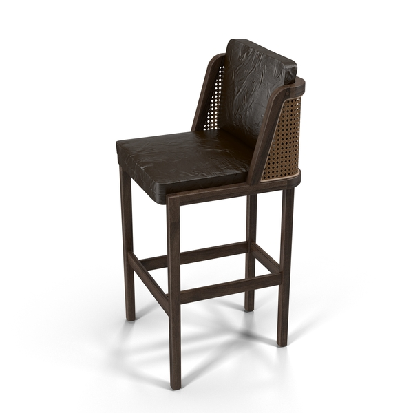 De La Espada Autoban Throne Bar Stool With Rattan PNG & PSD Images