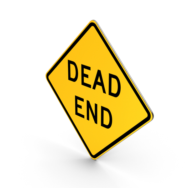Dead End Road Sign PNG & PSD Images