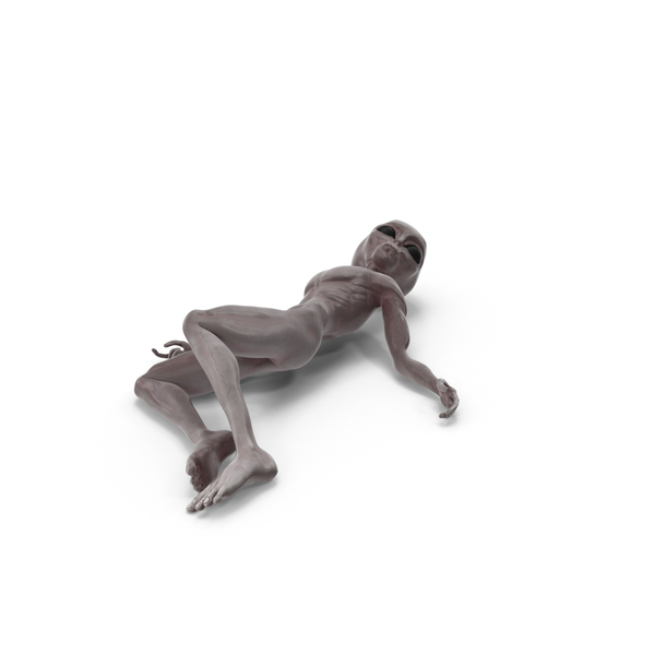 Dead Grey Alien PNG & PSD Images