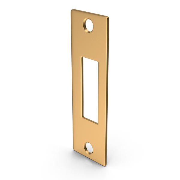 Deadbolt Lock: Deadlock Strike Plate Golden PNG & PSD Images