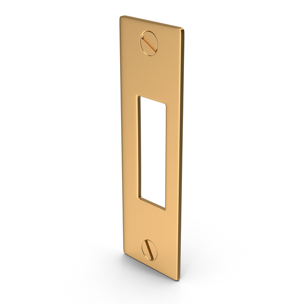 Lock: Deadlock Strike Plate Golden With Screw head PNG & PSD Images
